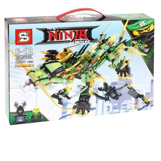 Конструктор Ninjago Movie SY918 Механический Дракон Зеленого Ниндзя 480 дет