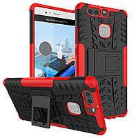 Чехол накладка противоударный TPU Hybrid Shell для Huawei P9 красный