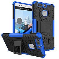 Чехол накладка противоударный TPU Hybrid Shell для Huawei P9 синий