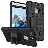 Чехол накладка противоударный TPU Hybrid Shell для Huawei P9 черный