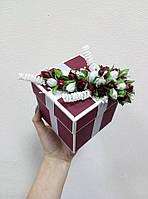 "Коробочка для весільного подарунку/грошей 80*80*80 мм ""МАРСАЛ"", фото 1"