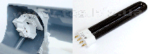 BLB 9W   PL-9W/BLB 2G7 Ультрафіолетова лампочка, фото 2
