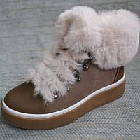 Зимние ботинки с наружным мехом Masheros размер 34-40