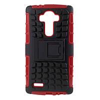 Чехол накладка противоударный TPU Hybrid Shell для LG G4 H815 красный