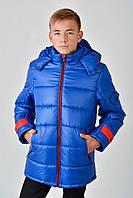 Зимняя теплая длинная куртка на мальчика 4015