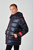 Зимняя теплая длинная куртка на мальчика 4015/2