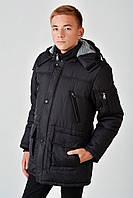 Зимняя теплая длинная куртка с мехом на мальчика 4016/2