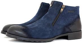 Зимние мужские ботинки Everest, замшевые синего цвета.