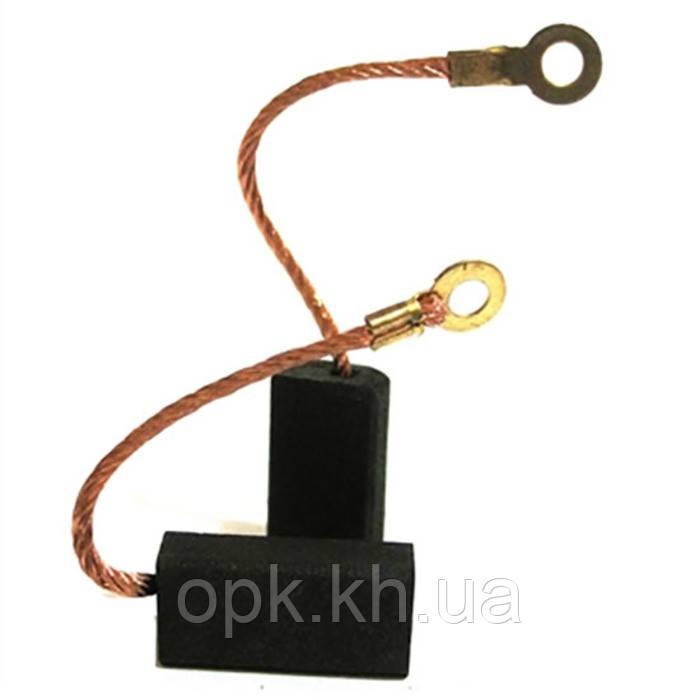 Щетки угольно-графитовые тст-н 6*10 на насос «Кама-10» (контакт - под болт, комплект - 2 шт)