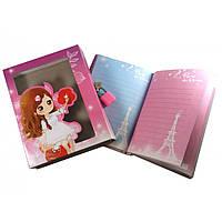 Блокнот с замком для девочек розовый 2 ключа 16,5х13х3,5 см (30734A)