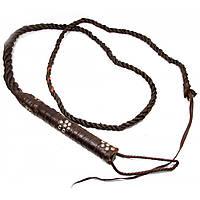 Кнут кожаный коричневый (1598G)