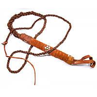 Кнут кожаный коричневый (1598B)