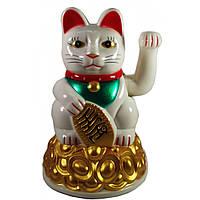 Кошка Манэки-нэко машущая лапой пластик 16х10,5х10,5см (30748)