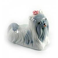 Собачка фарфоровая 8х6х4,5 см (30723)