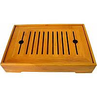 Стол для чайной церемонии бамбук 30*20 см (21964)