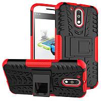 Чехол накладка противоударный TPU Hybrid Shell для Motorola Moto G4 Plus красный