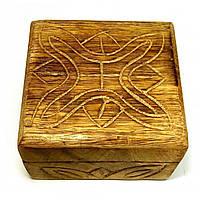 """Шкатулка из мангового дерева """"Антик"""" 10,5х10х6 см (18105A)"""