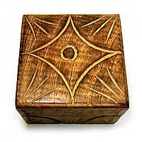 """Шкатулка из мангового дерева """"Антик"""" 10,5х10х6 см (18105C)"""