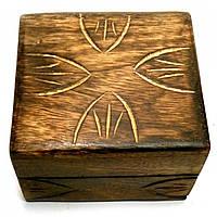 """Шкатулка из мангового дерева """"Антик"""" 10,5х10х6 см (18105D)"""