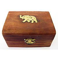 """Шкатулка розовое дерево """"Слон"""" 10,5х7,5х5,5 см (20391)"""