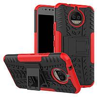 Чехол накладка противоударный TPU Hybrid Shell для Motorola Moto G5S Plus красный