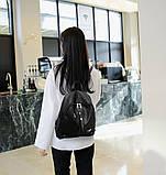 Рюкзак жіночий міський для дівчаток, дівчат з метеликами (чорний), фото 3