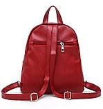 Рюкзак жіночий міський для дівчаток, дівчат з метеликами (чорний), фото 5