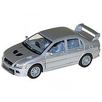Машинка Mitsubisi Lancer Evolution VII Kinsmart Серый
