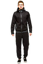 Теплый мужской костюм 374 черный