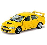 Машинка Mitsubisi Lancer Evolution VII Kinsmart Желтый