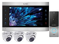 Комплект домофона Slinex SL-10IPT - Wi-Fi, детекция + 3 камеры Hikvision