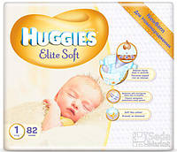 Подгузники Huggies Elite Soft 1, 82x2