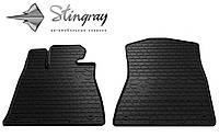 Резиновые коврики Stingray Стингрей Лексус Джи Ес (2 ведущих колеса) 2005- Комплект из 2-х ковриков Черный в салон