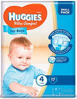 Подгузники Huggies Ultra Comfort Small (4) мальчик 17х4