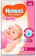 Подгузники Huggies Ultra Comfort Jambo (3) девочка 56х3 (5029053565354)