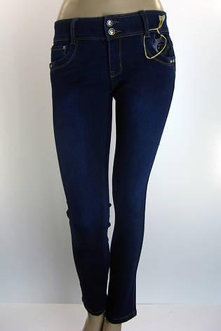 Жіночі зимові утеплені джинси на флісі розпродаж, фото 2