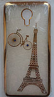 Силикон Beckberg Meizu M3E Eiffel Tour (Gold)