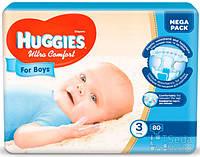 Подгузники Huggies Ultra Comfort Mega (3) мальчик 80 (5029053543598)