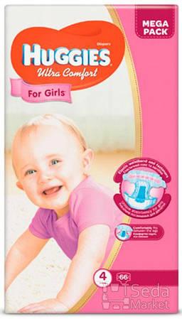Подгузники Huggies Ultra Comfort Mega (4) девочка 66х2 (5029053543628)