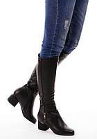 Сапоги женские демисезонные на низком каблуке 16338