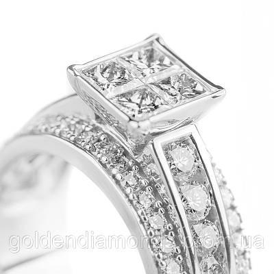 Золотое кольцо с бриллиантами С14Л1№11