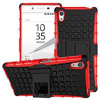 Чехол накладка противоударный TPU Hybrid Shell для Sony Xperia Z5 Dual красный