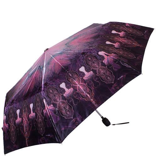 Стильный женский зонт полуавтомат ТРИ СЛОНА RE-E-100N-AC-1, цвет фиолетовый. Антиветер!