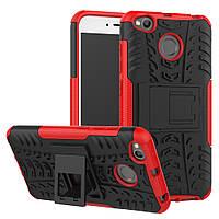 Чехол накладка противоударный TPU Hybrid Shell для Xiaomi Redmi 4X красный