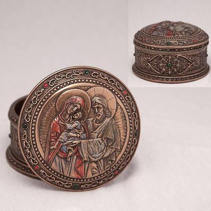 Шкатулка Святое семейство 10*5 см Veronese 75896 A4, фото 2