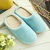 Тапочки домашние женские комнатные 39-40 размер (голубые)