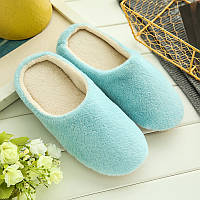 Тапочки домашние женские комнатные 37-38 размер (голубые)