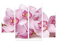 Модульная картина фиолетовые цветы орхидеи