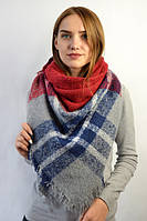 Клетчастый шарф плед