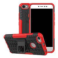 Чехол накладка противоударный TPU Hybrid Shell для Xiaomi Redmi Note 5A красный